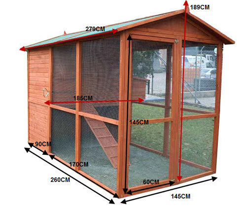 Large walking chicken coop for sale buy online save for Chicken coop dimensions