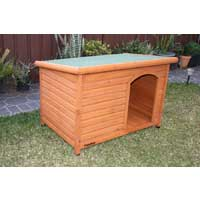 Small Wooden Dog Kennel Comfort