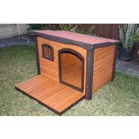 Large Wooden Dog Kennel Premium